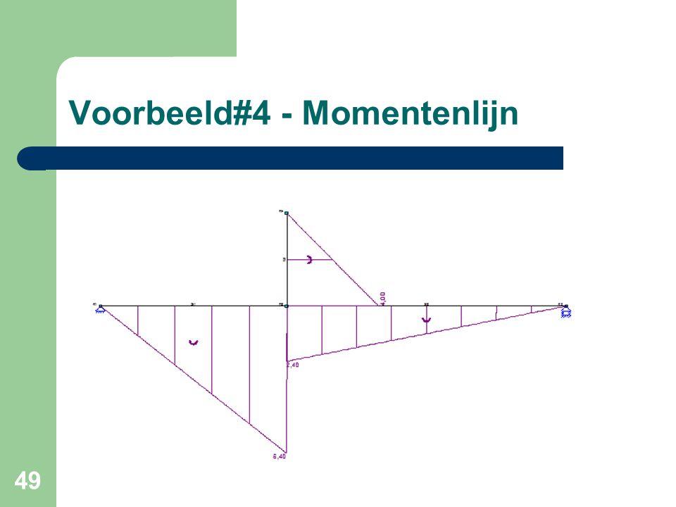 49 Voorbeeld#4 - Momentenlijn