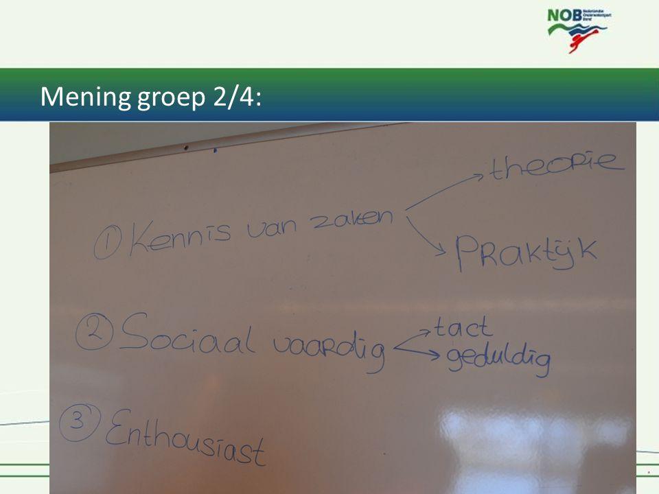 Mening groep 2/4: 1* Instructeur Tiel & Oss 201412