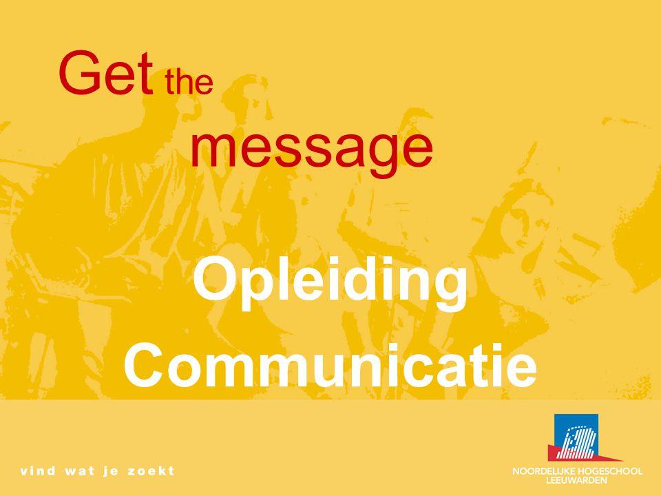 Get the message Opleiding Communicatie
