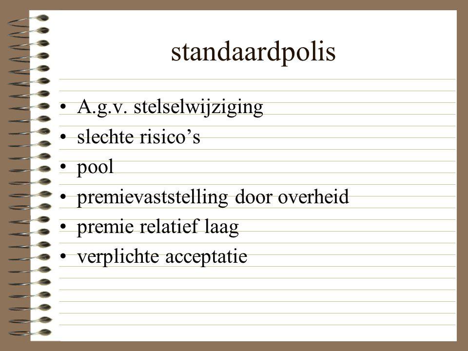 standaardpolis A.g.v.