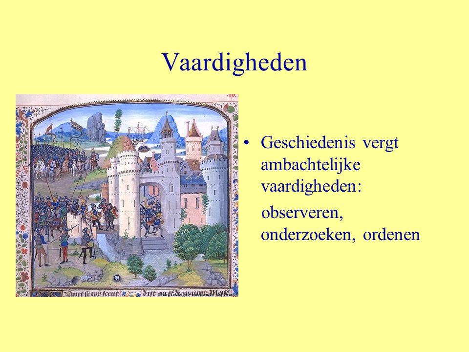 Vaardigheden Geschiedenis vergt ambachtelijke vaardigheden: observeren, onderzoeken, ordenen