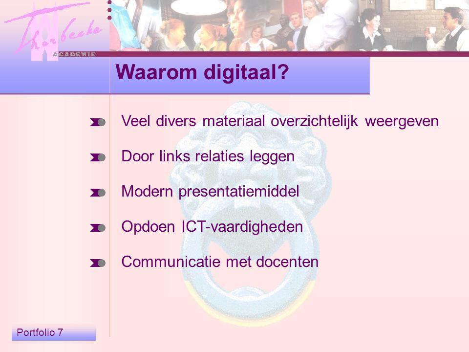 Portfolio 7 Waarom digitaal.