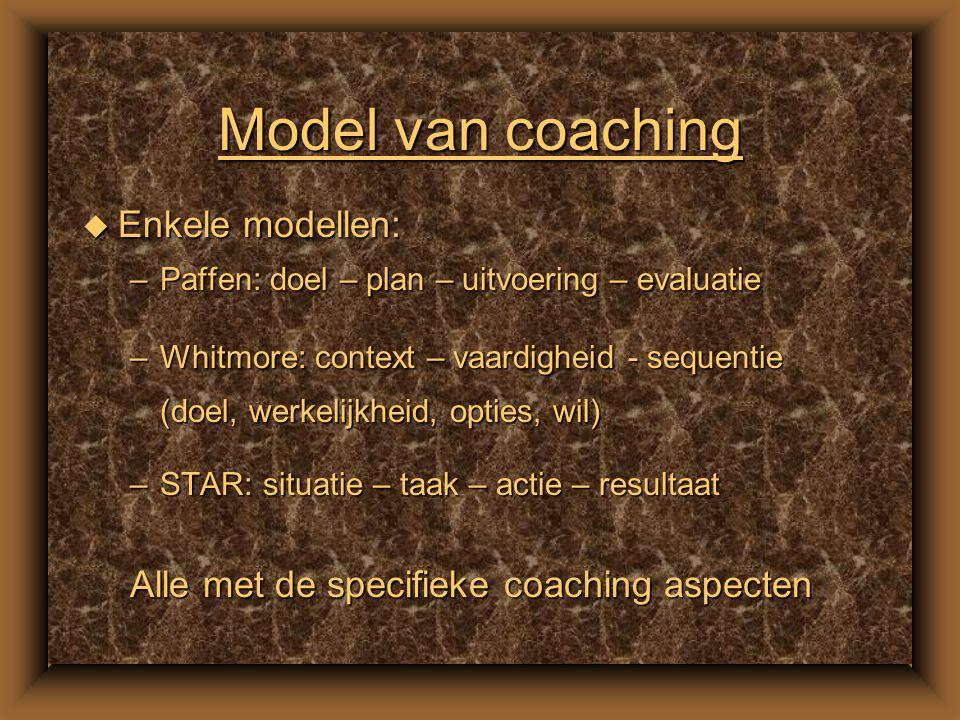 De coach en feedback u Informatief teruggeven van geobserveerd gedrag u Effectief in veilig leerklimaat u Concreet en informatief