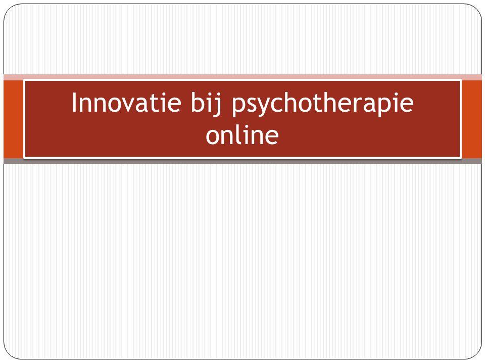 De afstudeeropdracht Artikel in de Volkskrant over psychotherapie online Oriëntatieproces, wat is psychotherapie online.