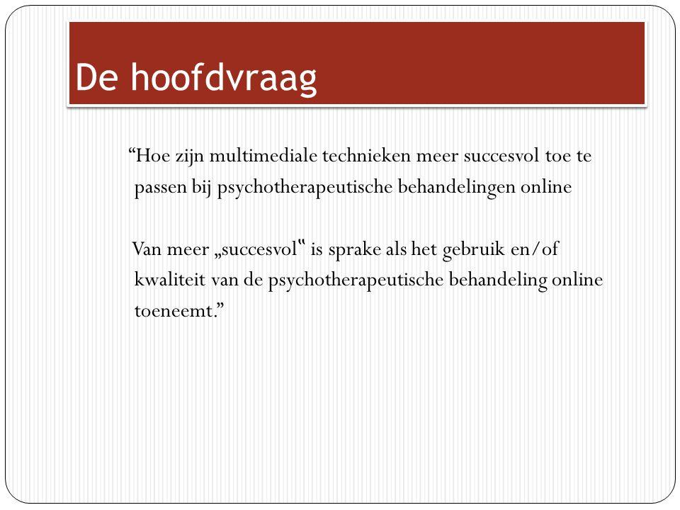 Voorbeeld interactieve afbeeldingen Oude behandeling, informatie over wat examenvrees precies is.