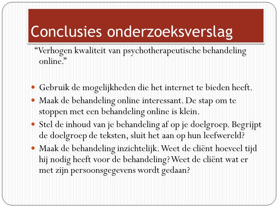 Productconcept Bestaande examenvrees behandeling van selfsessions.nl herontwikkelen n.a.v.