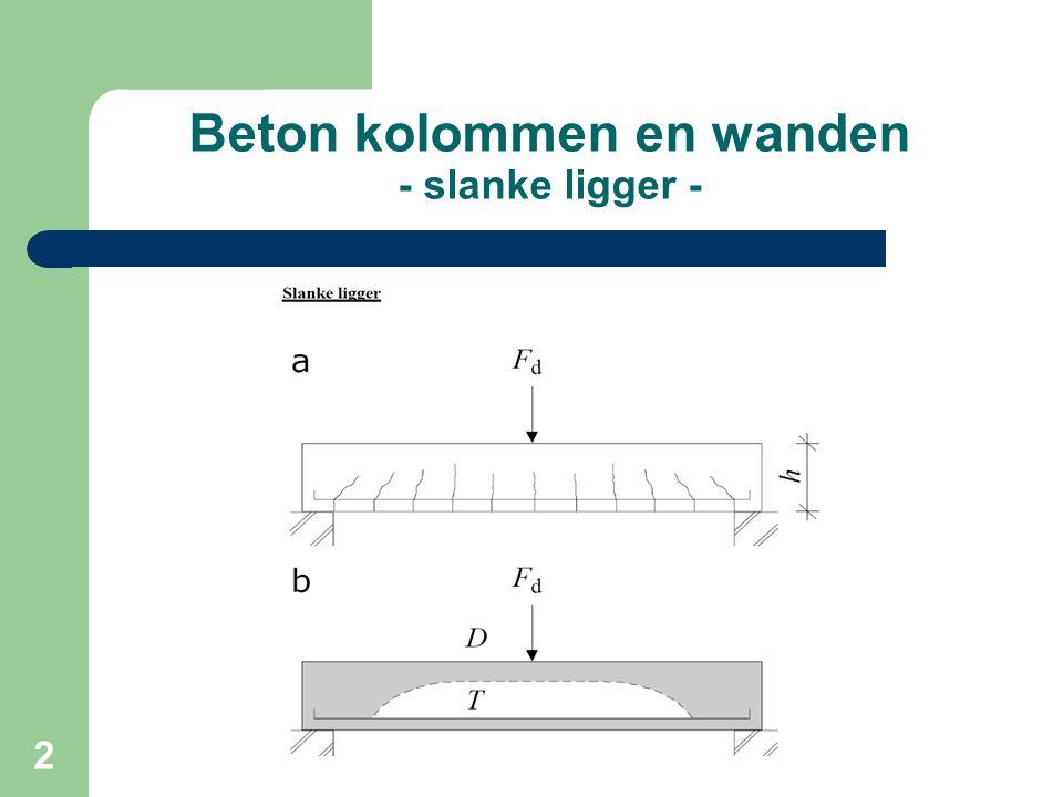 33 Beton kolommen en wanden - Invloed randvoorwaarden -