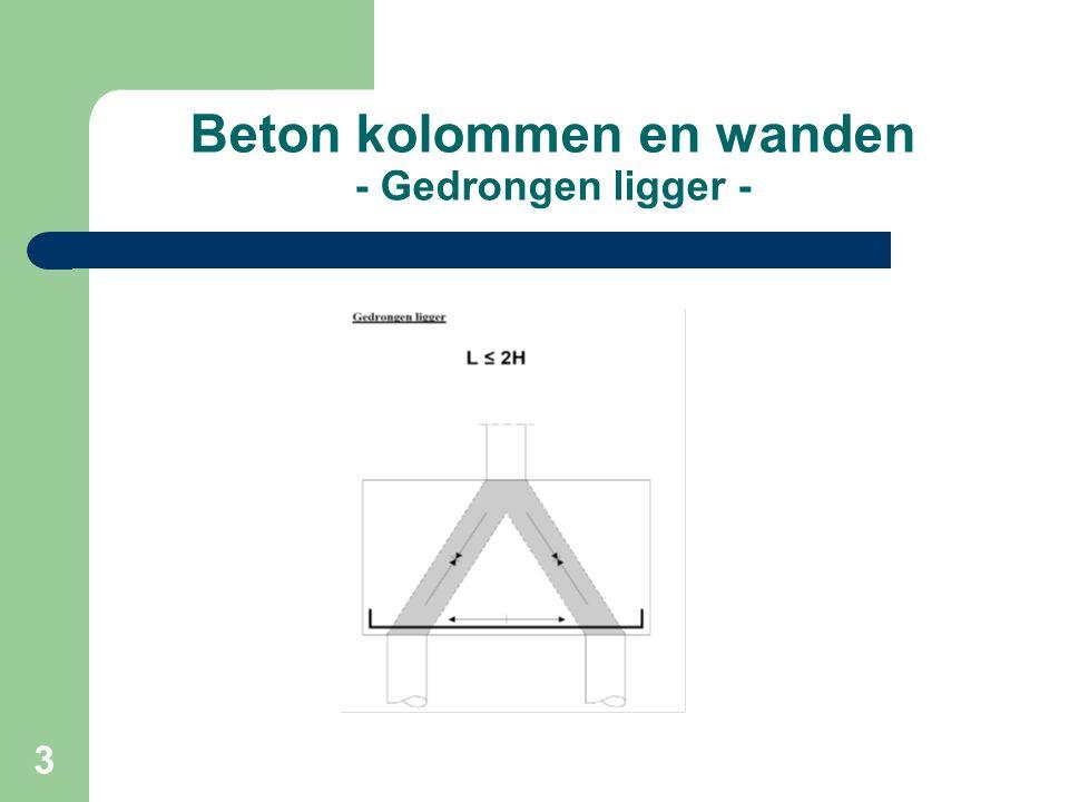4 Beton kolommen en wanden - Bezwijkbeeld gedrongen liggers -
