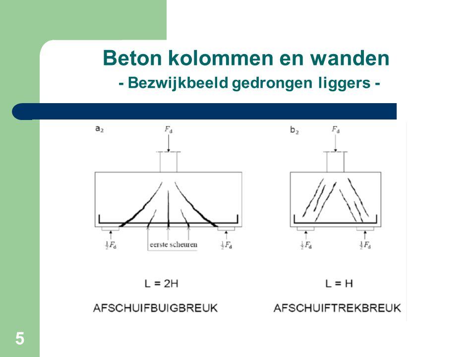 36 Beton kolommen en wanden - GTB diagram -