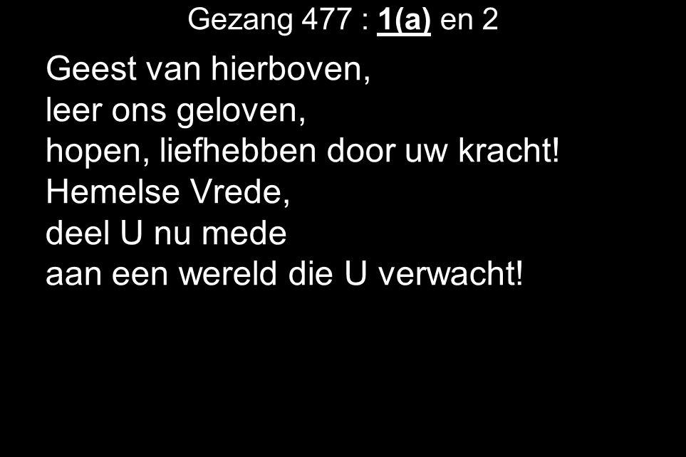 De lezing uit de Bijbel is Marcus 5 : 22 t/m 43 (in de Nieuwe BijbelVertaling).