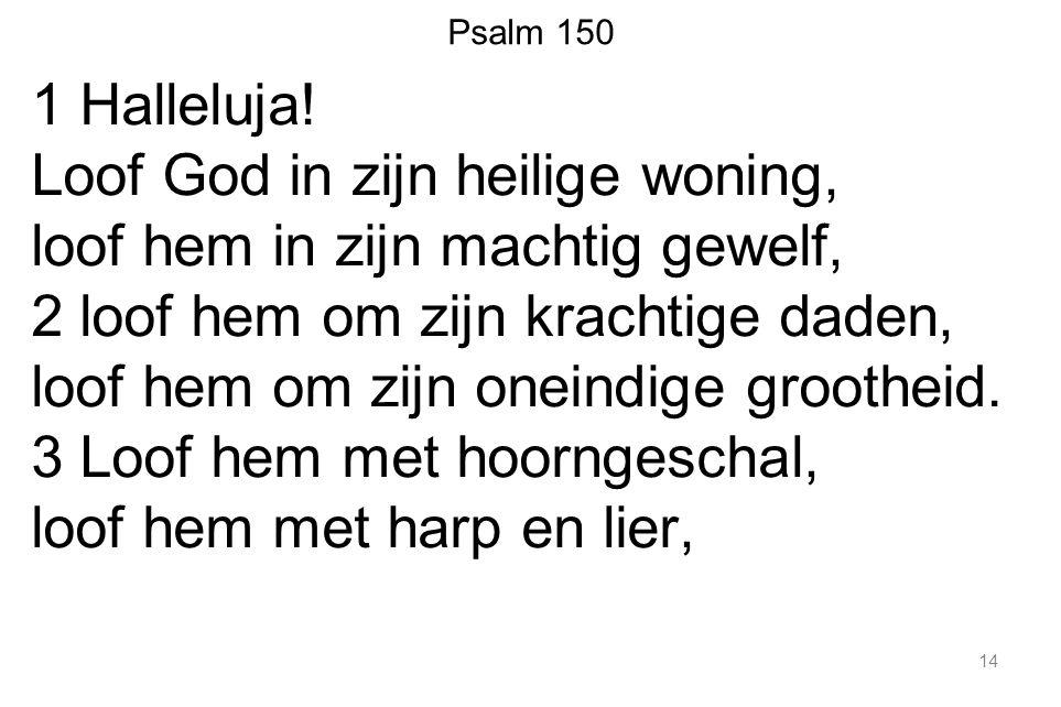 Psalm 150 1 Halleluja.