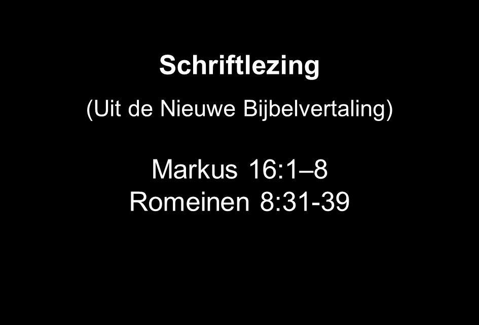 Schriftlezing (Uit de Nieuwe Bijbelvertaling) Markus 16:1 – 8 Romeinen 8:31-39