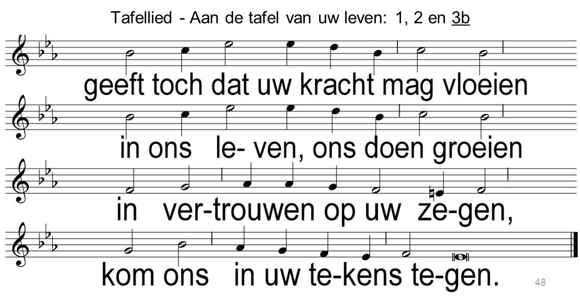 Tafellied - Aan de tafel van uw leven: 1, 2 en 3b 48