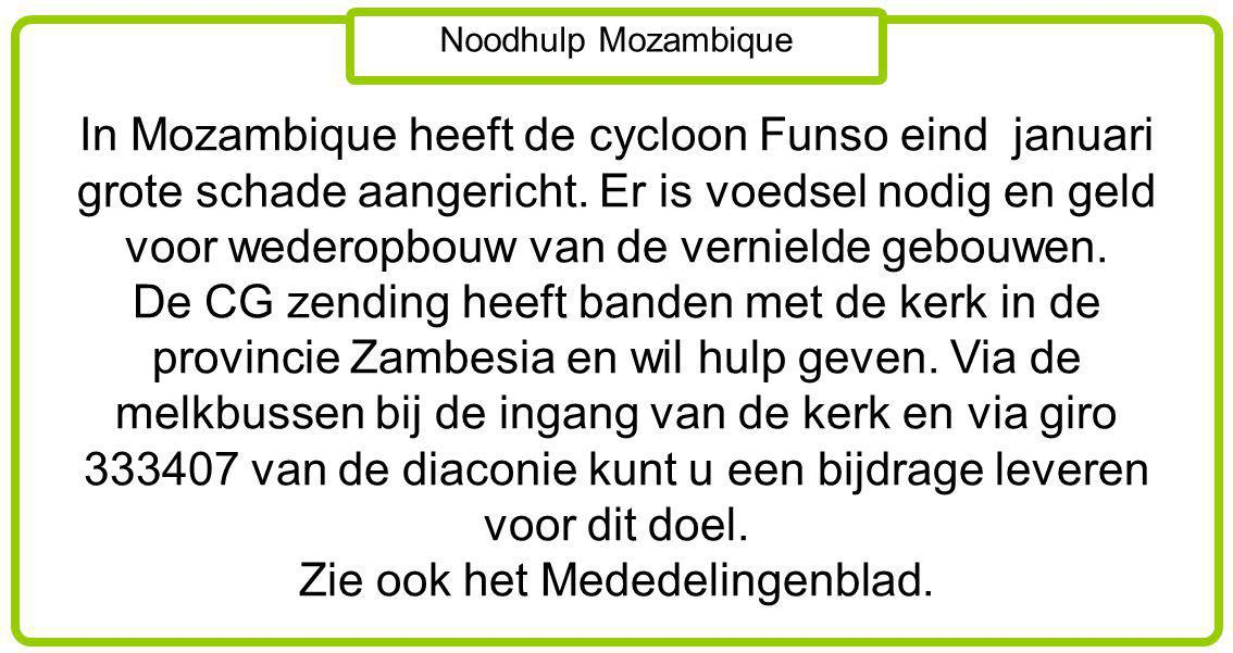 Noodhulp Mozambique.