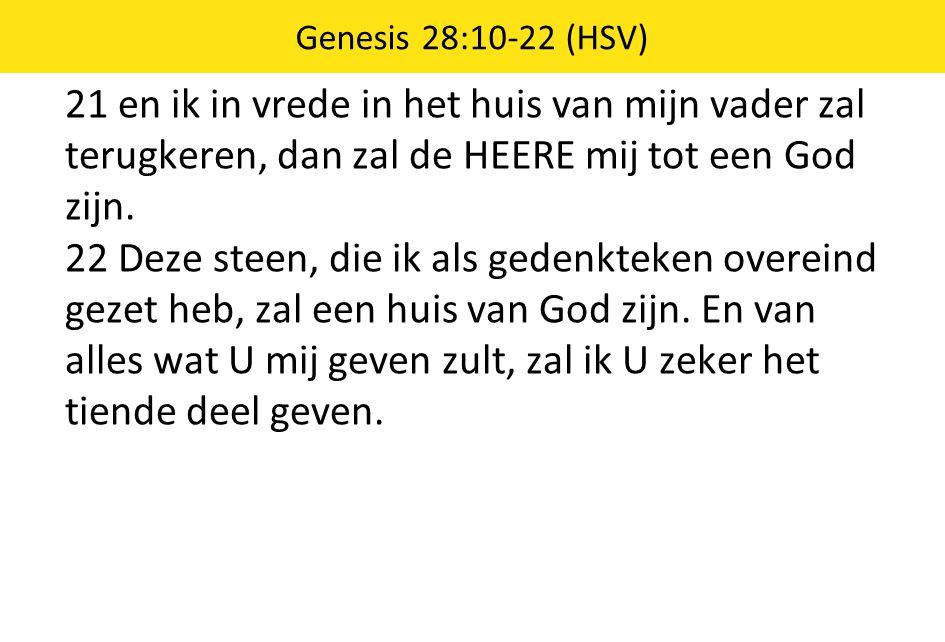 21 en ik in vrede in het huis van mijn vader zal terugkeren, dan zal de HEERE mij tot een God zijn.