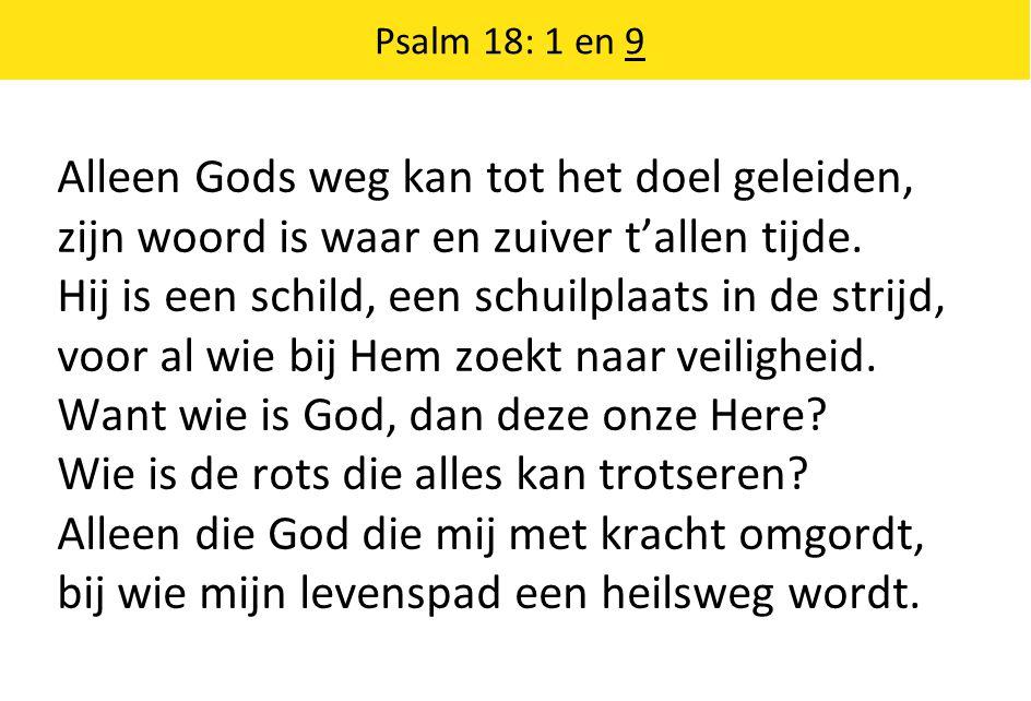 Alleen Gods weg kan tot het doel geleiden, zijn woord is waar en zuiver t'allen tijde.