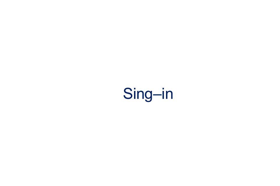 Sing–in