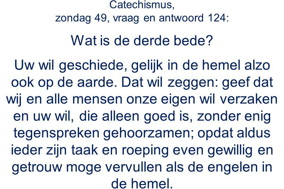 Catechismus, zondag 49, vraag en antwoord 124: Wat is de derde bede.