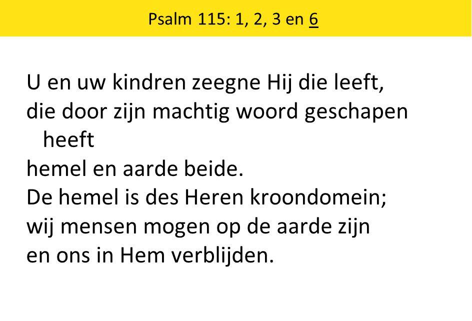 Nader tot U: refrein Dit wordt de grond van mijn gebed steeds meer: In Jezus werd Hij Vader weer.