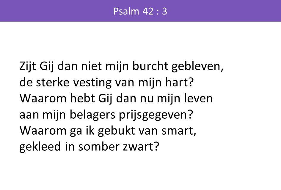 Zijt Gij dan niet mijn burcht gebleven, de sterke vesting van mijn hart.