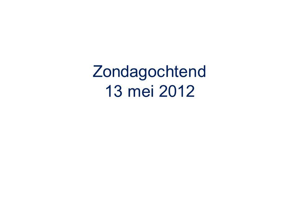 Zondagochtend 13 mei 2012
