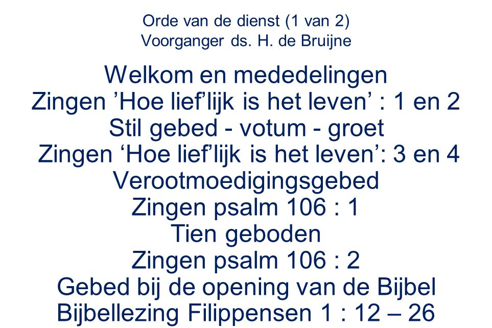 Evangelische Liedbundel 183 : 1, 2, 3 en 4 Dit is de weg: te gaan op zijn Woord t spoor van de voeten, voor mij doorboord.