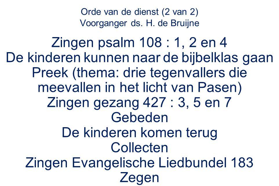 Evangelische Liedbundel 183 : refrein Dit is mijn vreugde: Christus in mij; dit is Gods zegen, zo maakt Hij vrij.