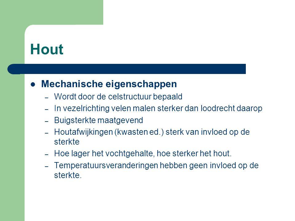 Hout Conserveringen Voor het optreden van houtrot moet; – vochtgehalte hoger zijn dan 20% – zuurstof aanwezig zijn – temperatuur niet te laag zijn.