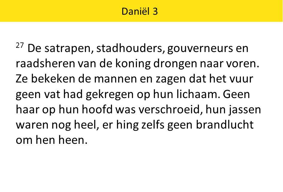 Daniël 3 28 Nebukadnessar nam het woord.
