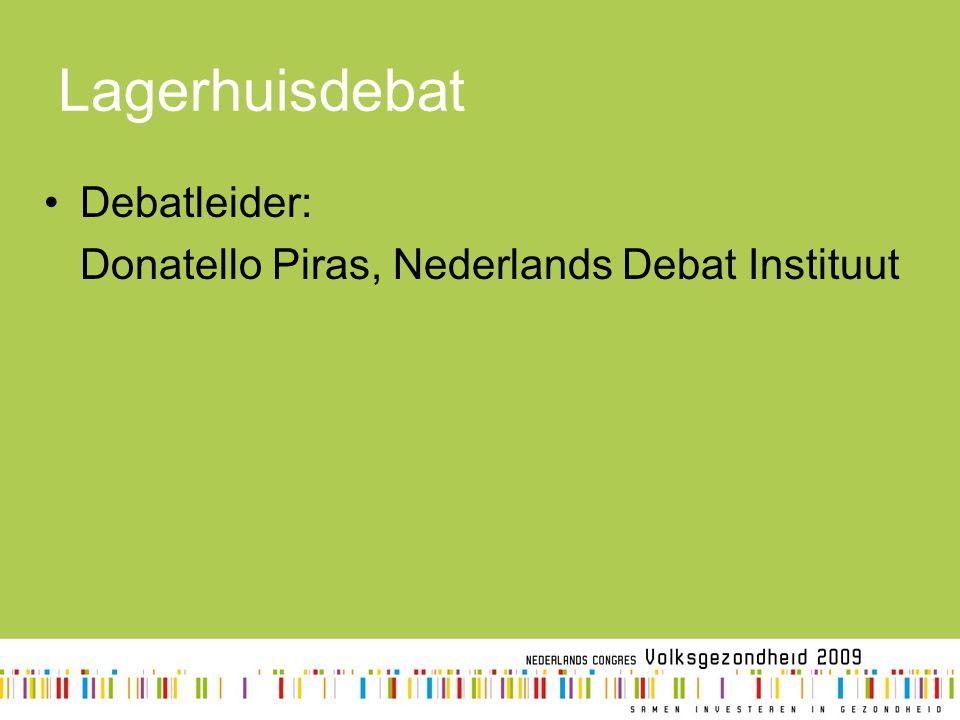 Lagerhuisdebat Debatleider: Donatello Piras, Nederlands Debat Instituut