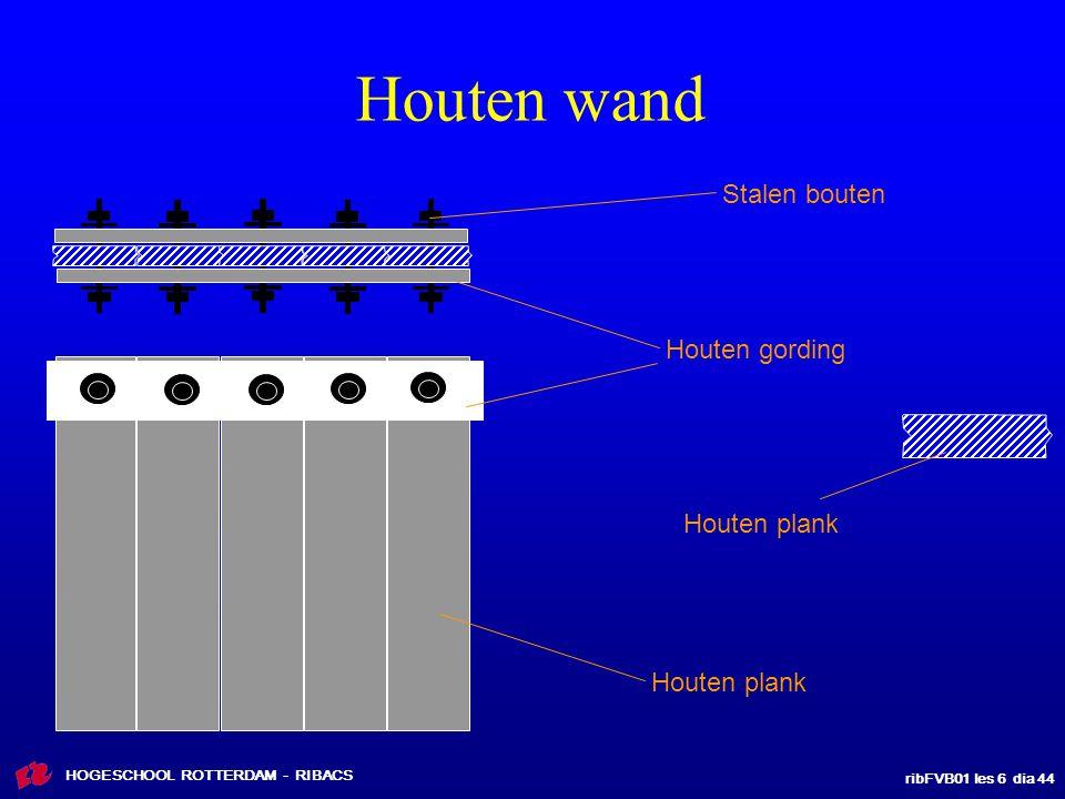 ribFVB01 les 6 dia 44 HOGESCHOOL ROTTERDAM - RIBACS Houten wand Houten plank Houten gording Stalen bouten