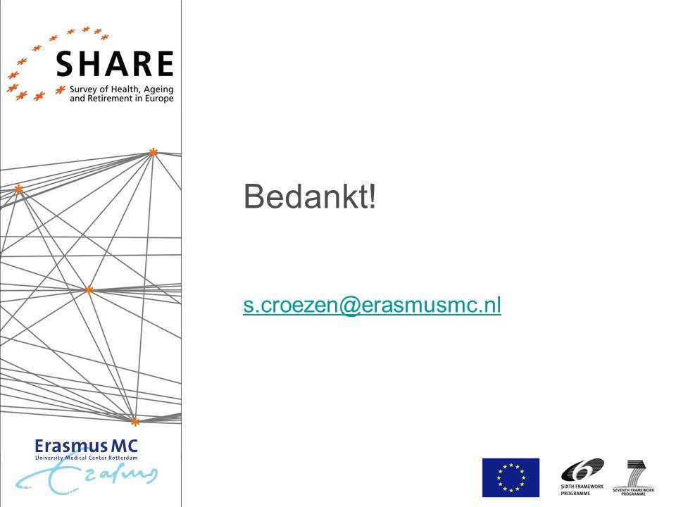 Bedankt! s.croezen@erasmusmc.nl