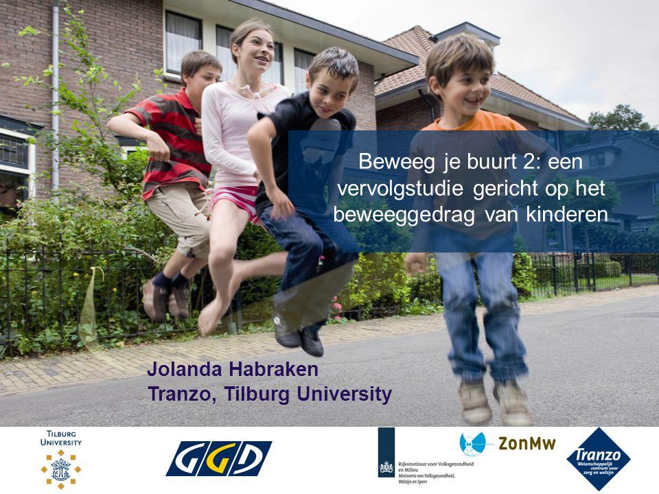 Beweeg je buurt 2: een vervolgstudie gericht op het beweeggedrag van kinderen Jolanda Habraken Tranzo, Tilburg University