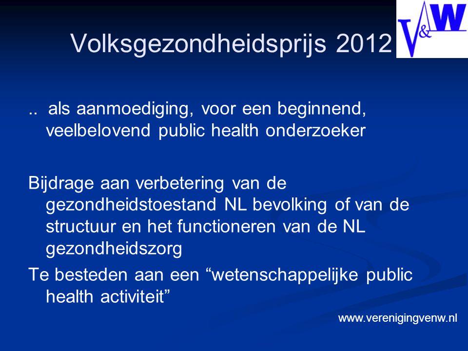 Volksgezondheidsprijs 2012..