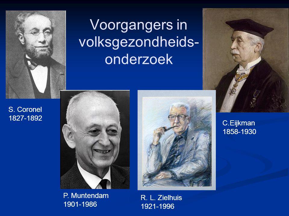 Voorgangers in volksgezondheids- onderzoek S. Coronel 1827-1892 P.