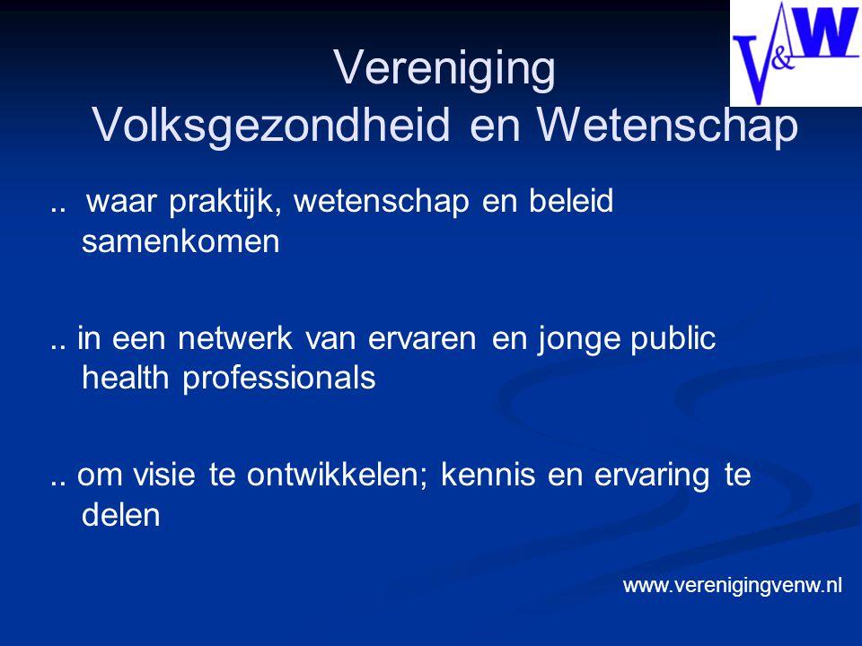 Vereniging Volksgezondheid en Wetenschap.. waar praktijk, wetenschap en beleid samenkomen..