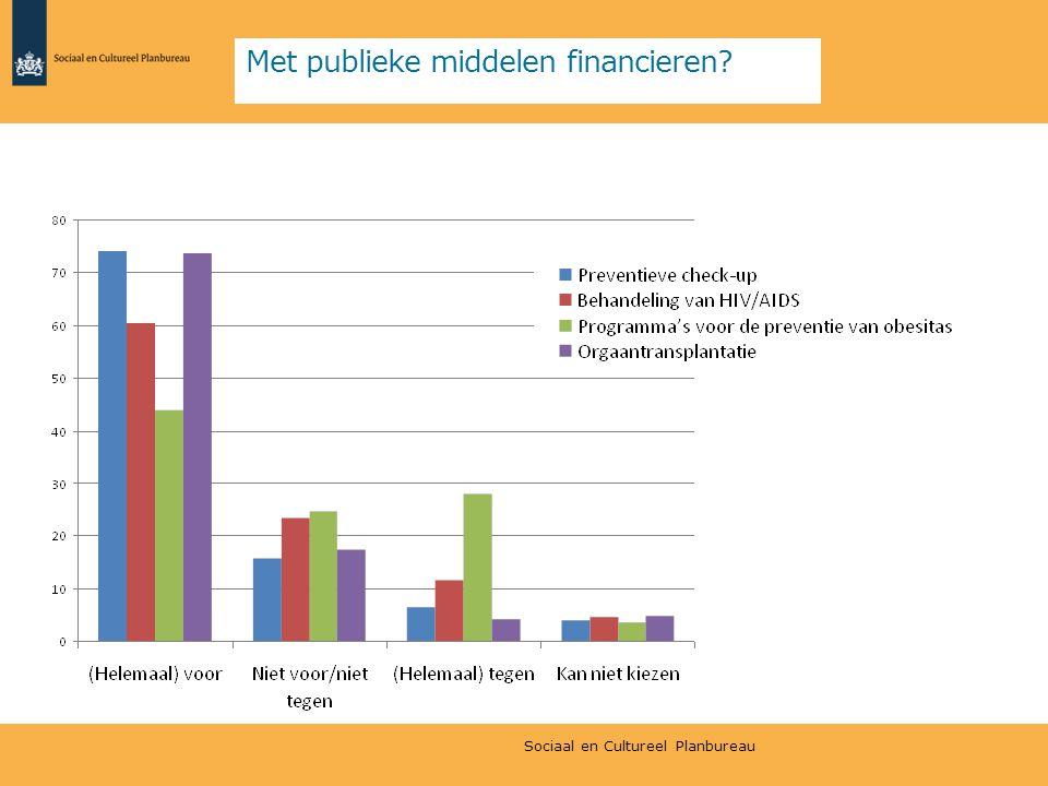 Met publieke middelen financieren? Sociaal en Cultureel Planbureau