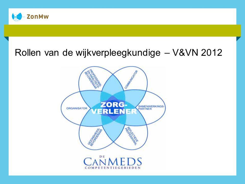 Rollen van de wijkverpleegkundige – V&VN 2012