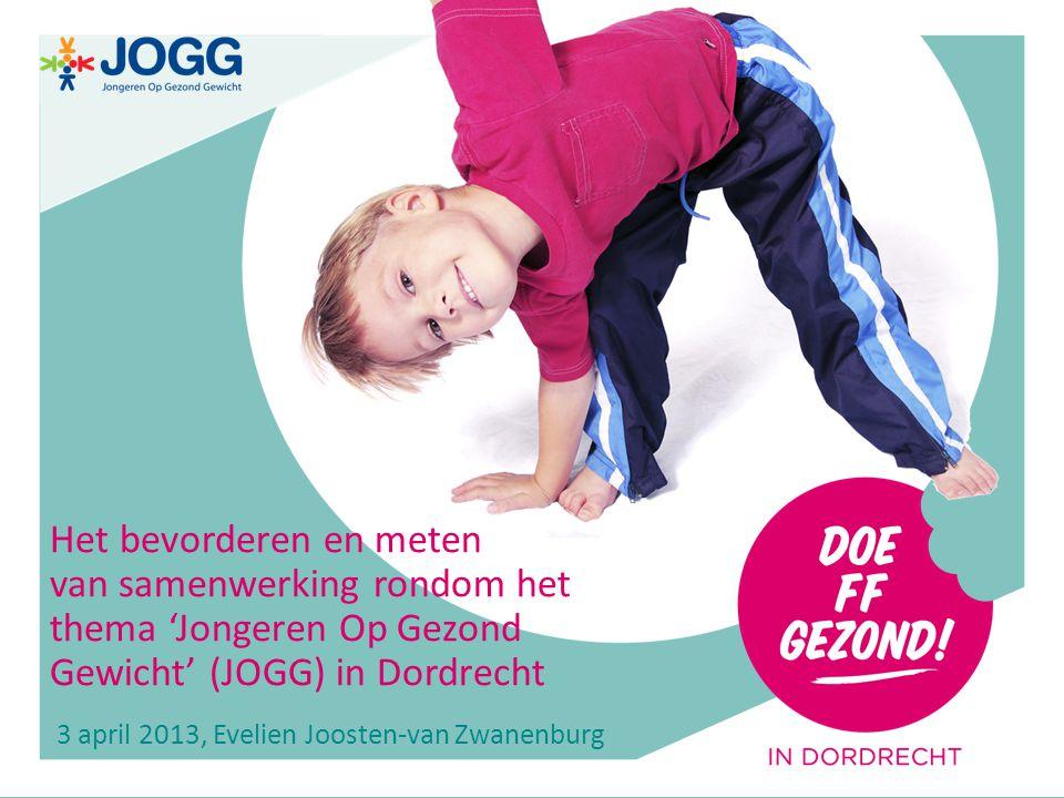 0 Het bevorderen en meten van samenwerking rondom het thema 'Jongeren Op Gezond Gewicht' (JOGG) in Dordrecht 3 april 2013, Evelien Joosten-van Zwanenburg