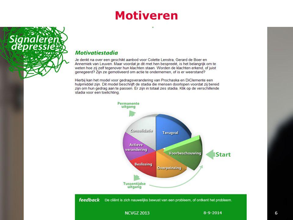In balans Voorlichting over belang van mentale fitness Mentaal vitaal.nl Mindfulness Bewegen Psyfit Universele preventie Preventieve interventies 1 8-9-2014 7 NCVGZ 2013