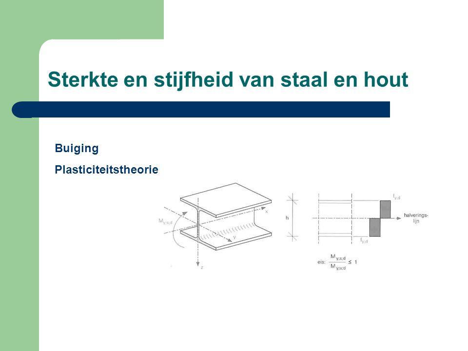 Sterkte en stijfheid van staal en hout Buiging Plasticiteitstheorie