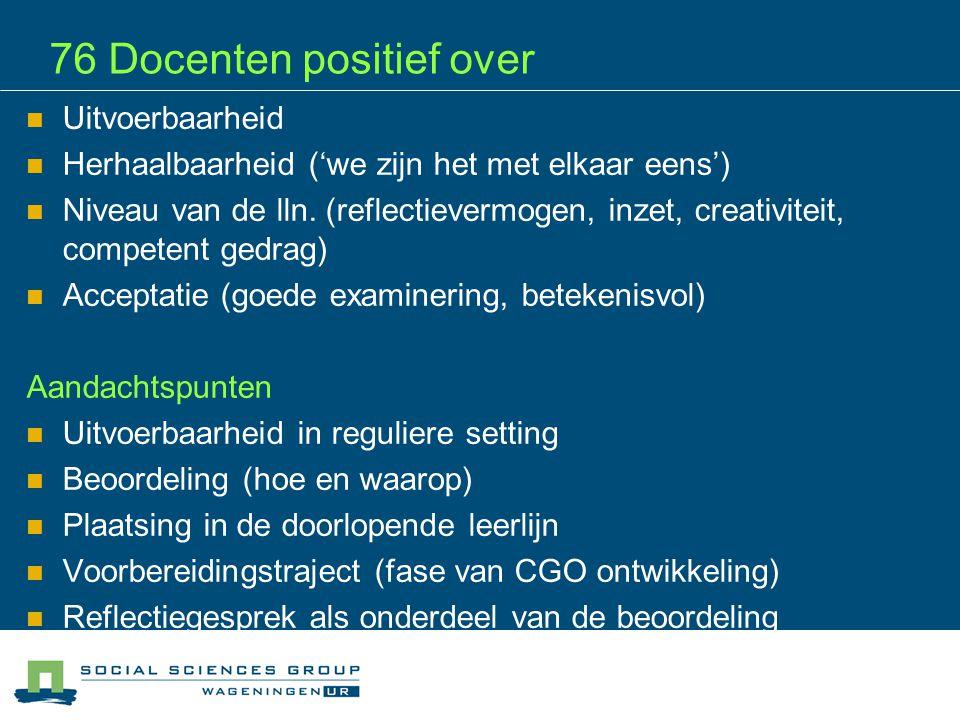 Wat vraagt nog aandacht CSPE Groen Proeven geeft een zichtbare impuls aan competentiegericht vmbo groen, dus vooral doorgaan !