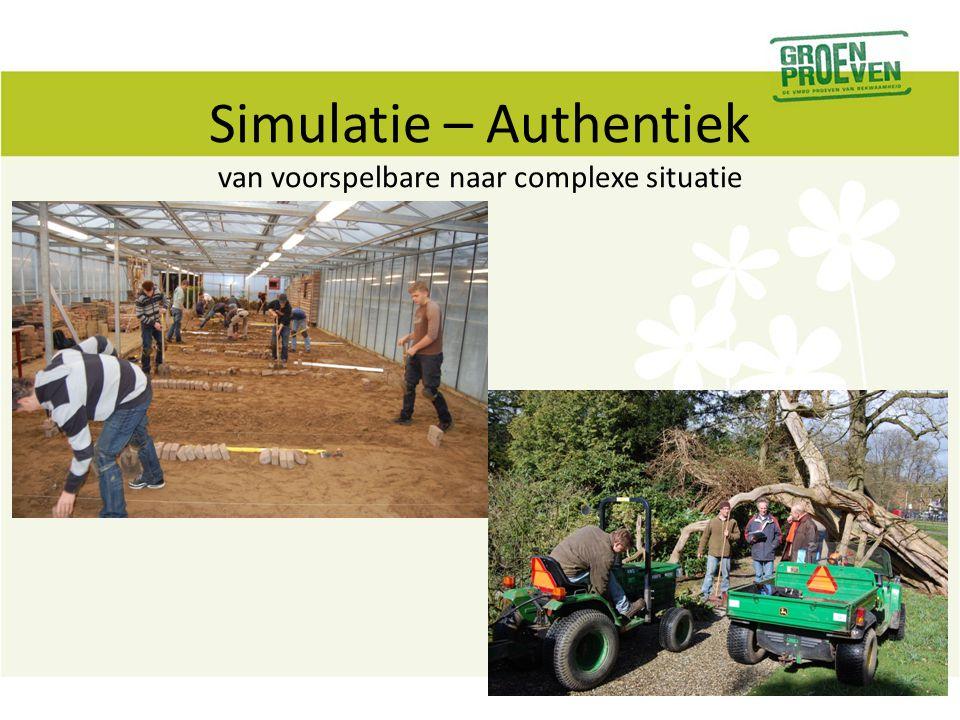 Simulatie – Authentiek van voorspelbare naar complexe situatie