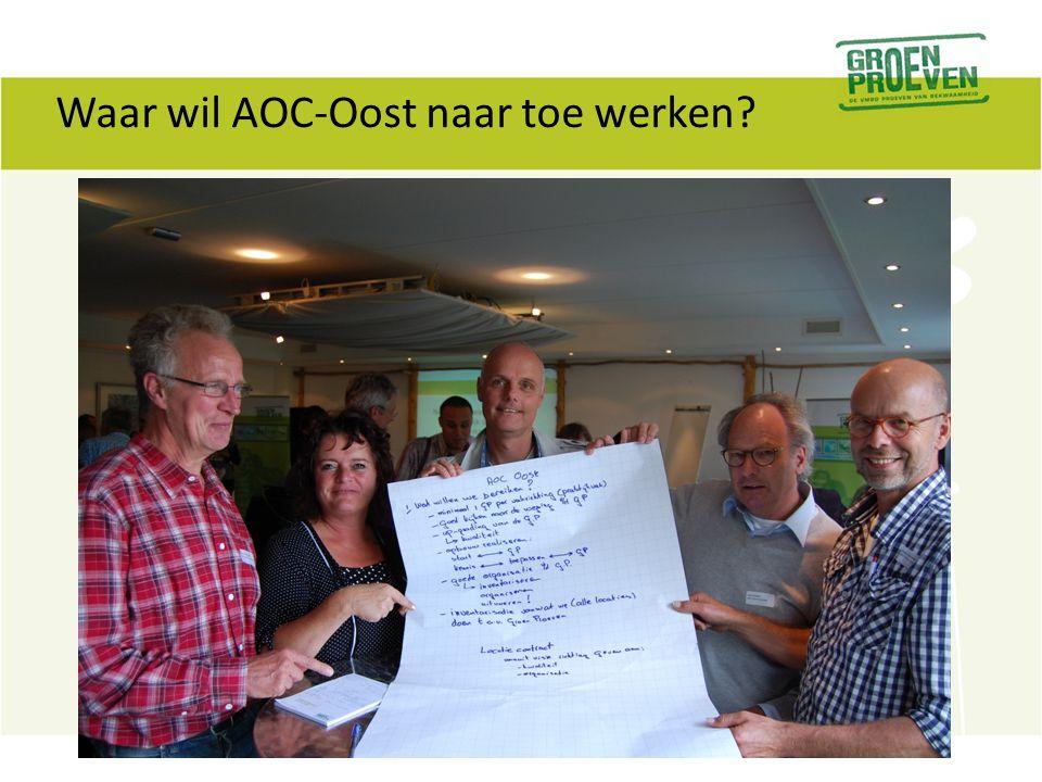 Waar wil AOC-Oost naar toe werken?