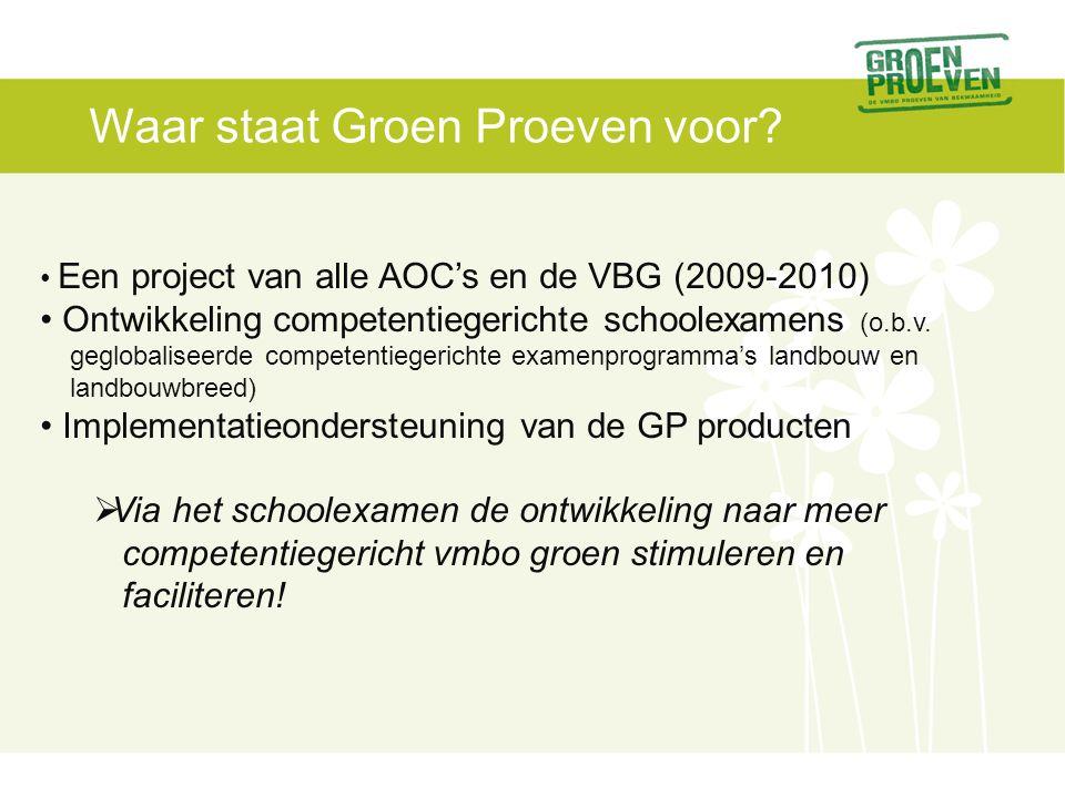 Waar staat Groen Proeven voor.
