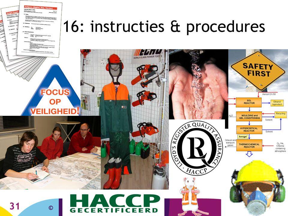 31 16: instructies & procedures