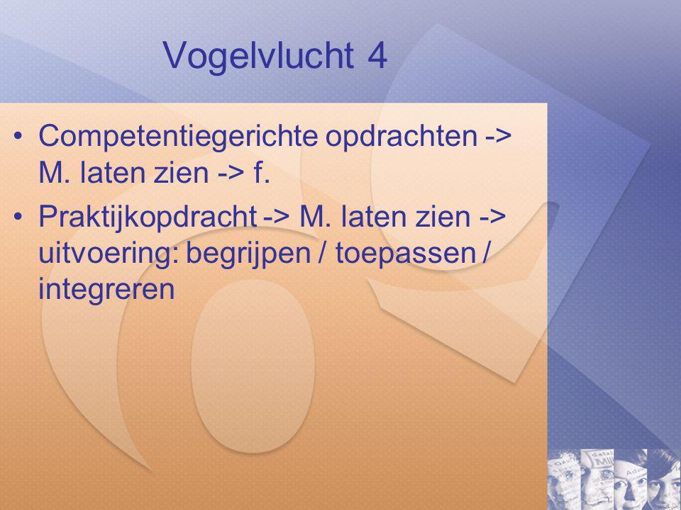Vogelvlucht 4 Competentiegerichte opdrachten -> M.