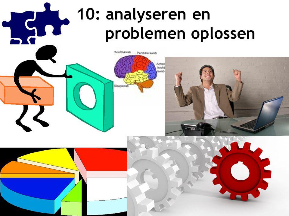 11 10: analyseren en problemen oplossen