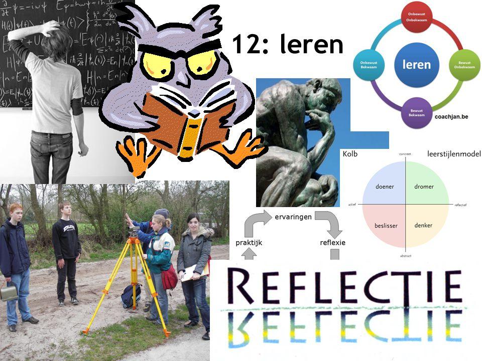 13 12: leren