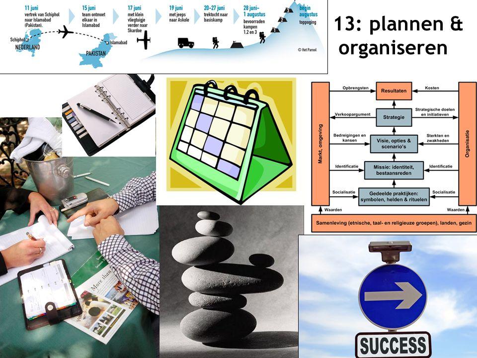 14 13: plannen & organiseren